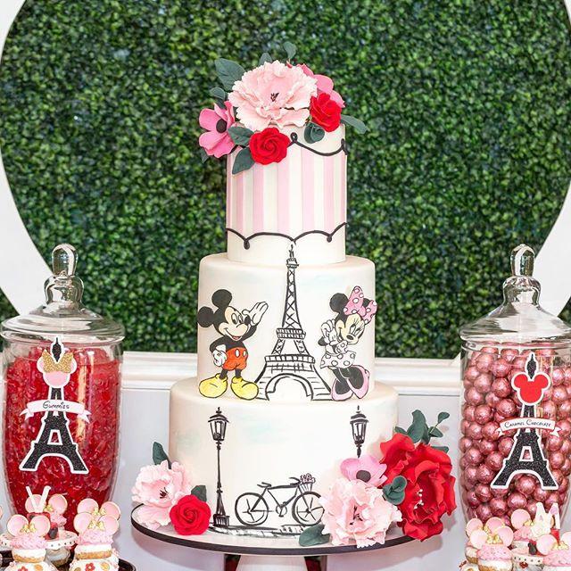 Ponqué clásico Mickey y Minnie Mouse en París.